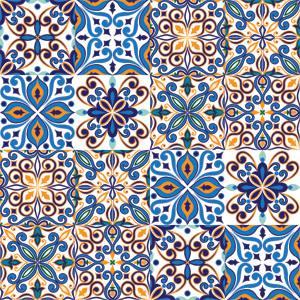 Ladrilho hidraulico adesivo - Papel para azulejos de bano ...