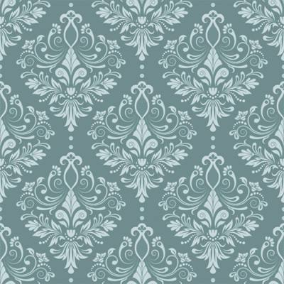 Papel de parede damask turquesa arabesco for Papel pared turquesa