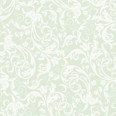 Papel de Parede Arabesco Claro com fundo verde clarinho