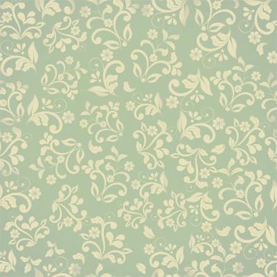 Papel de Parede Floral Arabesco Verde