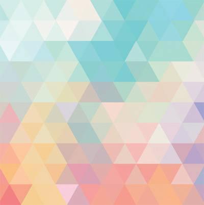 Papel de Parede Triangulo Coloridos Geometricos