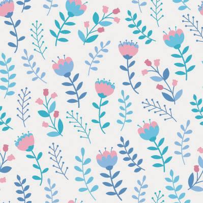 Papel de Parede para quarto de menina flores