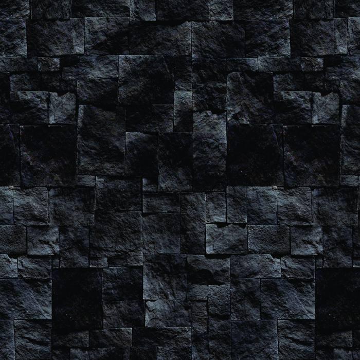 Papel de Parede Pedra Preta Escura Autocolante PD36