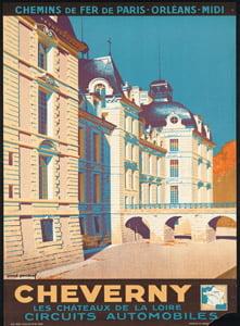 Placa Decorativa Poster Cheverny Paris Cartão Postal PDV556