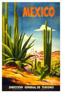 Placa Decorativa Mexico Cartão Postal PDV541