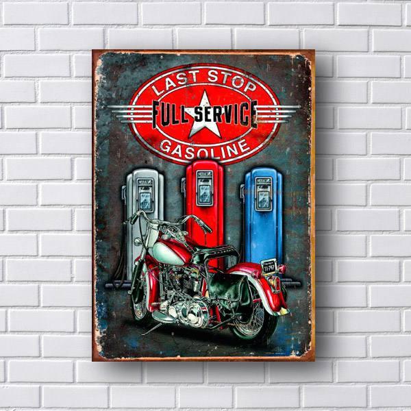 Quadro Decorativo Last Stop Gasoline