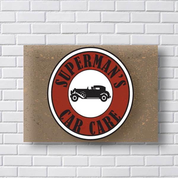 Quadro Vintage Superman Car Care