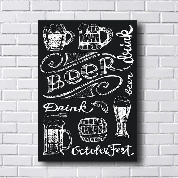 Quadro Beer Drink Preto e Branco