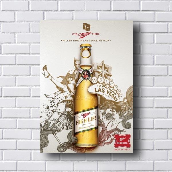 Quadro Decorativo Cerveja Miller