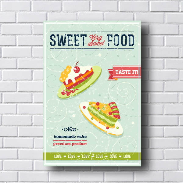 Quadro Vintage Sweet Food