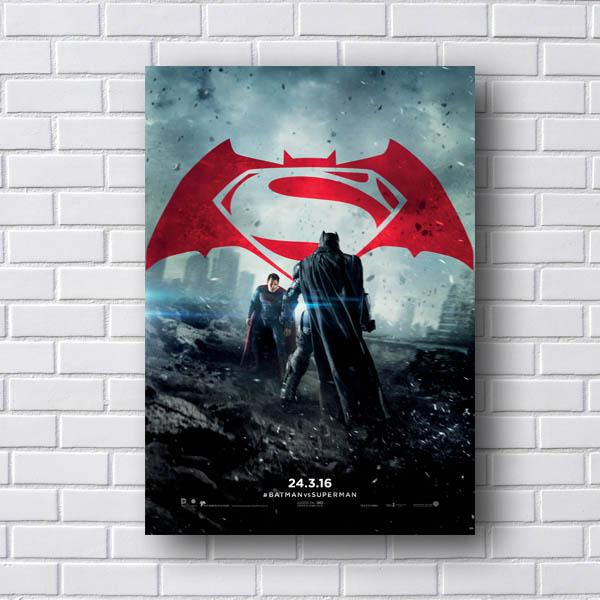Quadro Batman vs SuperMan