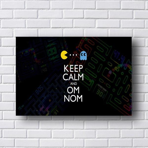 Quadro Pac Man Keep Calm