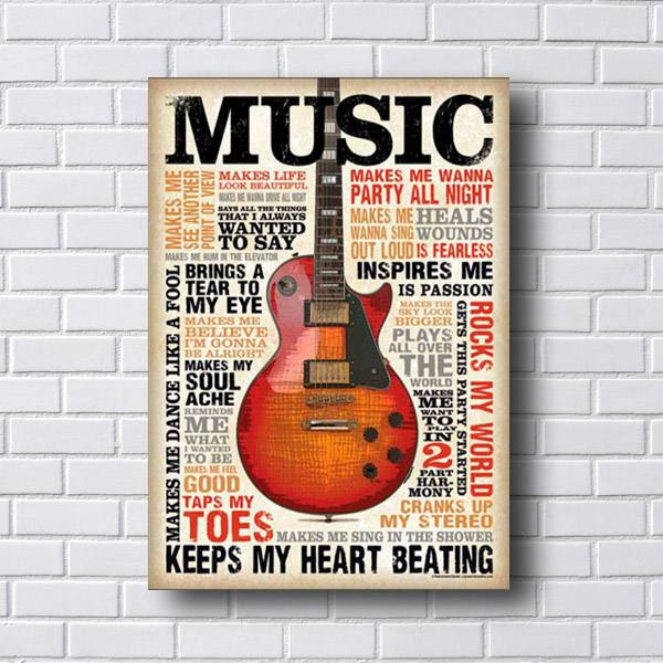 Quadro Decorativo Music