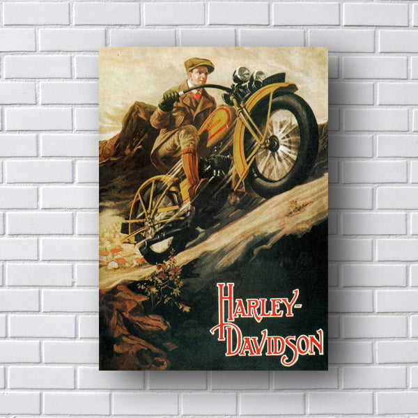 Quadro Decorativo Harley Davidson Retro