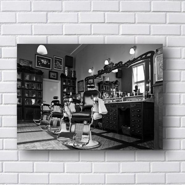 Quadro Salão Barbearia Retro