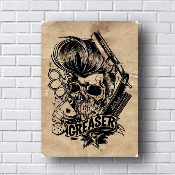 Quadro Caveira Barber Greaser