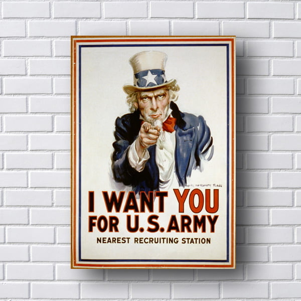 Quadro I Want You Retro