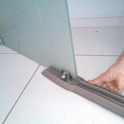 Veda Porta de Vidro e Protetor de Porta de Vidro Blindex Duplo 100Cm