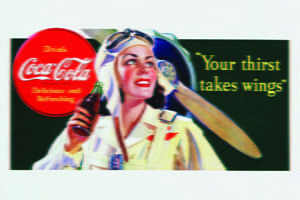 Placas Decorativas Retro Coca Cola Drink Wings PDV374