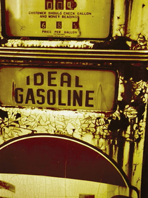 Placa Decorativa Vintage Carros Ideal Gasoline PDV176