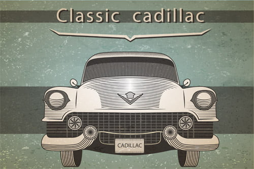 Placa Decorativa Vintage Carros Classic Cadillac PDV216