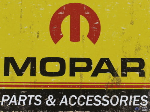 Placa Decorativa Vintage Carros Mopar Parts PDV178