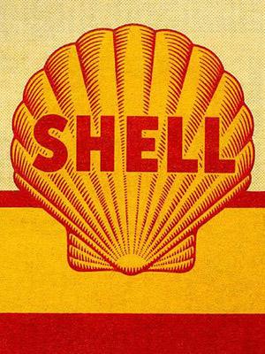 Placa Decorativa Vintage Carros Shell Gas PDV188