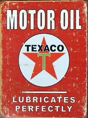 Placa Decorativa Vintage Carros Motor Oil Texaco PDV225