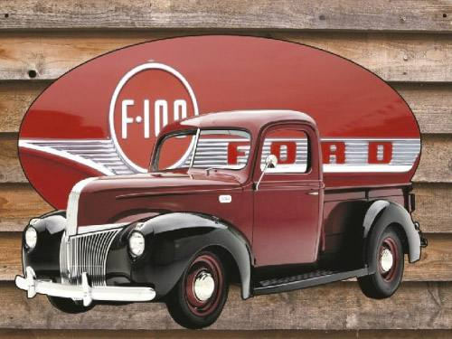 Placa Decorativa Vintage Retro Ford F-100 PDV093