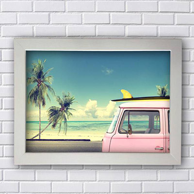 Quadro Kombi Surf Decorativo