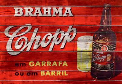 Placa Decorativa Brahma Chopp em garrafa ou em barril PDV024