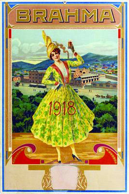 Placa Decorativa Cerveja Brahma 1918 Retro Vintage PDV259