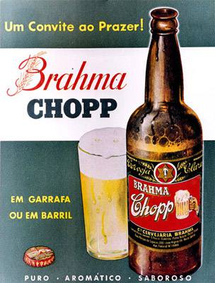 Placa Decorativa Cerveja Brahma Chopp PDV025