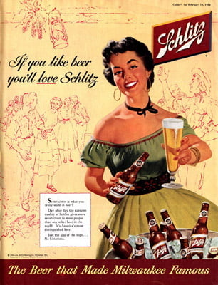 Placa Decorativa Schlitz Beer PDV241