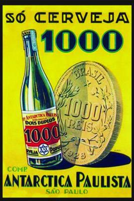 Placa Decorativa Antarctica Paulista Cerveja 1000 PDV252