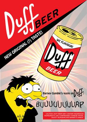 Placa Decorativa Duff Beer Barney PDV272