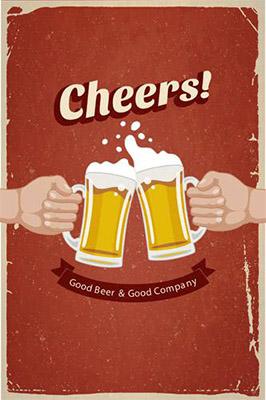 Placa Decorativa Retro Cerveja Cheers PDV020