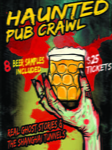 Placas Decorativas Cerveja Haunted Pub Beer PDV348