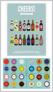 Placas Decorativas Cerveja Cheers Beer PDV363