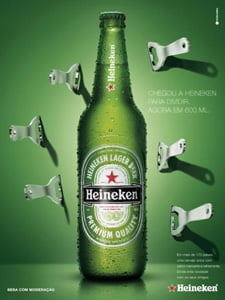 Placas Decorativas Heineken 600ML PDV322