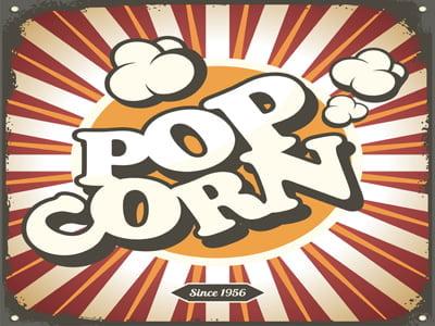 Placa Decorativa Pipoca Pop Corn para cozinha PDV526