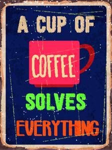 Placas Decorativas Coffee Café Cup para cozinha PDV529
