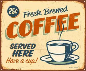 Placa Decorativa Cafe Coffee Cozinha PDV513