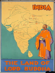 Placa Decorativa india Land of Buddha PDV535