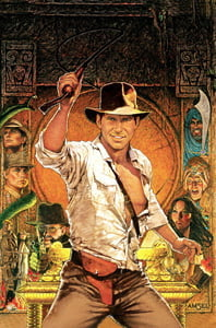 Placas Decorativas De filmes Indiana Jones PDV485