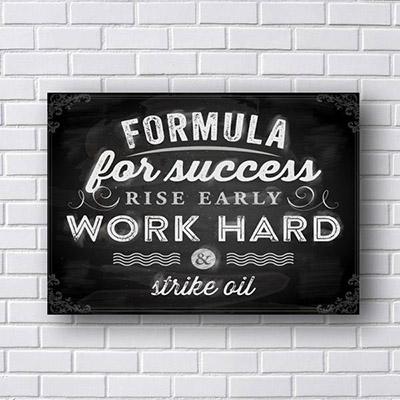 Quadro Decorativo Formula For Success