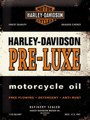 Placa Decorativa Vintage Retro Harley Davidson Oil PDV099