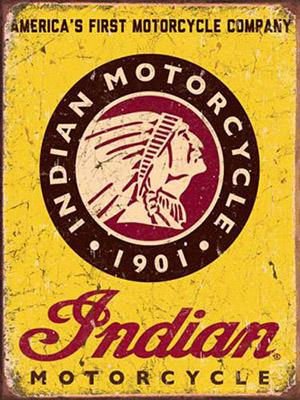 Placa Decorativa Vintage Retro Indian Motor Cycles PDV102