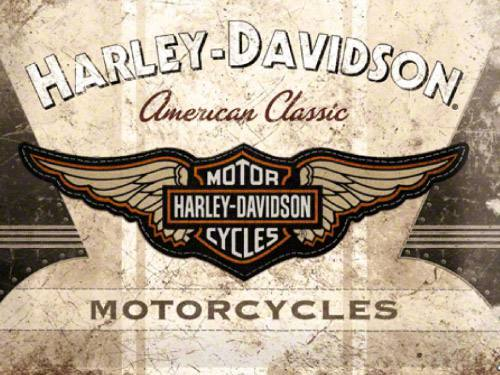 Placa Decorativa Vintage Retro Harley Classic PDV104