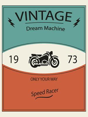 Placa Decorativa Vintage Retro Dream Machine 1973 PDV117